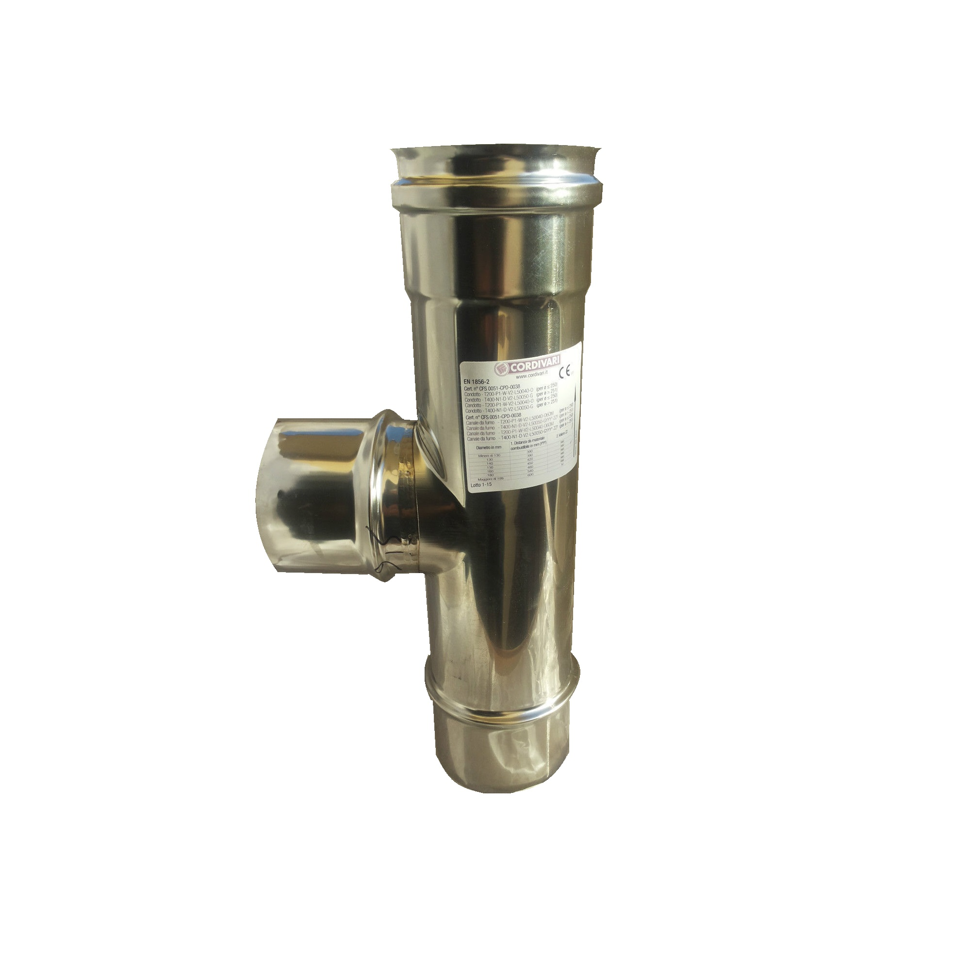 TUBI PER CANNA FUMARIA IN ACCIAIO INOX Ø80 AISI 304