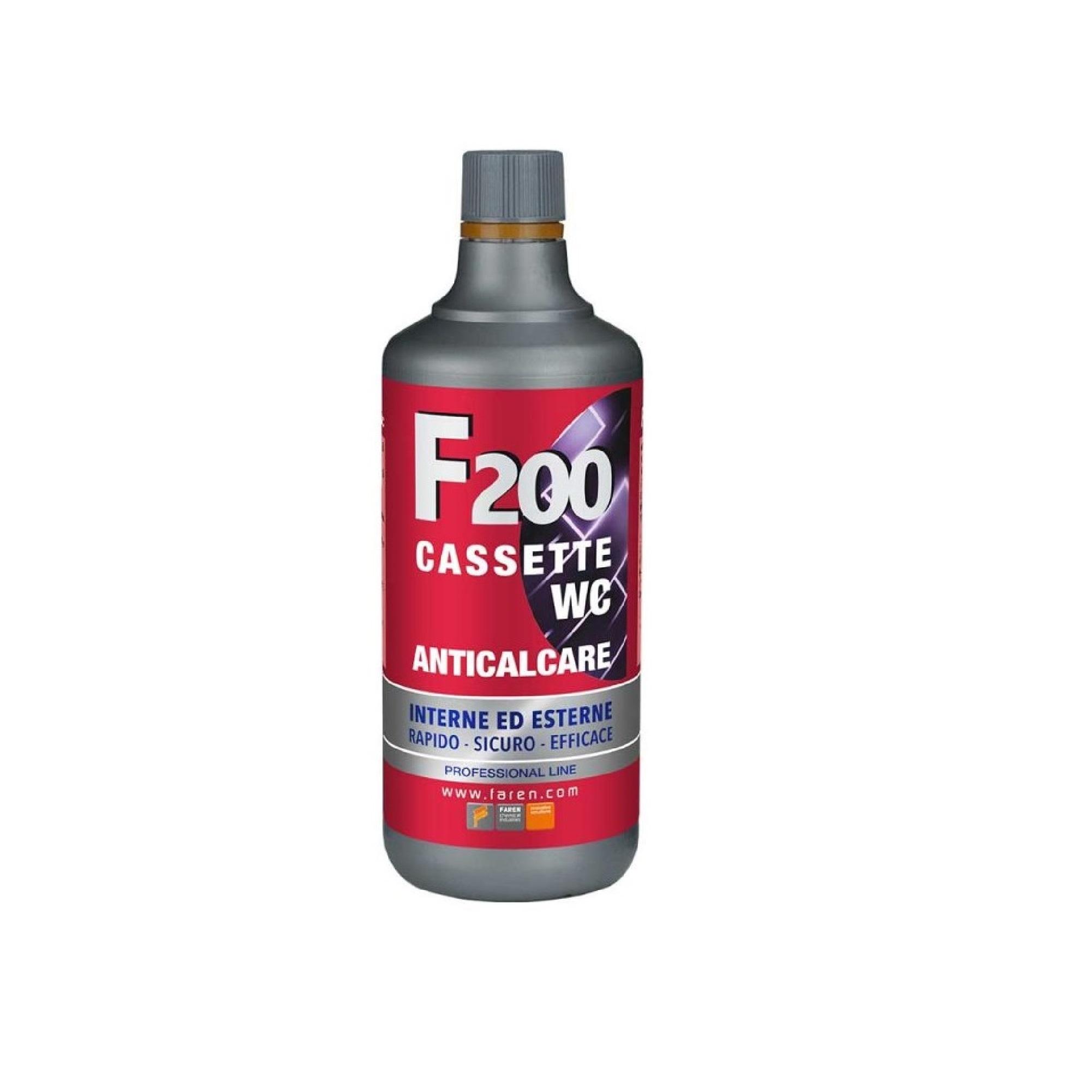 Incrostazioni Di Calcare Nel Wc faren f200 anticalcare professionale per cassette wc 1l